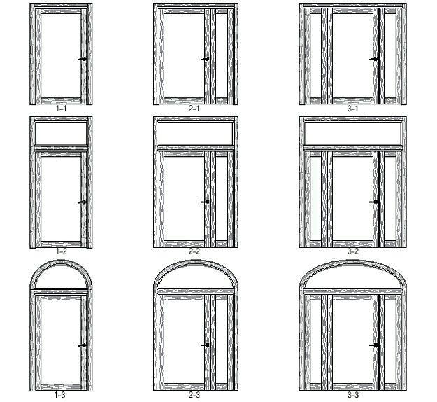 конструкция входной двери Fado